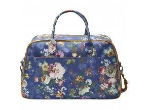 Malá cestovní taška s květinovým vzorem v nightblue barvě
