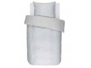 Barevné bavlněné povlečení na postel, sada saténových postelí, obrázkové povlečení, 100% bavlna - světle modrá barva, Essenza - 140x220+60x70