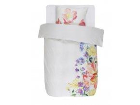 Barevné bavlněné povlečení na postel, povlečení na jednolůžko, 100% bavlna - motiv floristický, Essenza - 140x220+60x70