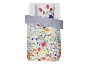 Barevné bavlněné povlečení na postel, obrázkové povlečení,100% bavlna - květinový motiv, Essenza - 140x220+60x70