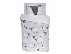 Barevné bavlněné povlečení na postel pro děti, obrázkové povlečení, 100 % bavlna, s motivem ovcí - Covers & Co - 140x220+60x70