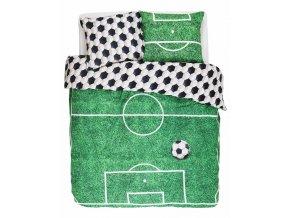 Bavlněné povlečení na postel, povlečení na jednolůžko, obrázkové povlečení 100% bavlna -  téma fotbal, Covers & Co - 140x220+60x70