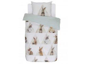 Bavlněné povlečení na postel, povlečení, obrázkové povlečení, 100% bavlna,obrázkové povlečení - téma králíků, Covers & Co - 140x220+60x70