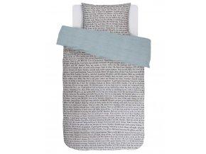 Bavlněné povlečení na postel, povlečení na jednolůžko, obrázkové povlečení 100% bavlna - téma stránky knihy, Covers & Co - 140x220+60x70
