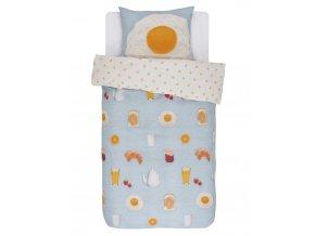 Bavlněné povlečení na postel, povlečení na jednolůžko, SUNNY saténové povlečení, 100 % bavlna - Covers & Co - 140x220+60x70