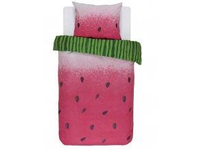 Bavlněné povlečení na postel, postel s motivem vodního melounu, obrázkové povlečení, povlečení, Covers & Co, 140 x 220 cm - 140x220+60x70