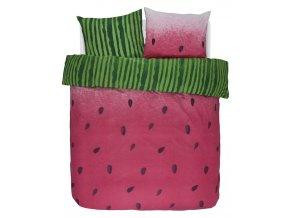 Bavlněné povlečení na postel, postel s motivem vodního melounu, obrázkové povlečení, povlečení,  povlečení na dvojlůžko, Covers & Co, 200 x 220 cm -  200x220+2/60x70