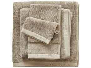 Luxusní froté ručník, koupací ručník, bavlna, béžová barva, 50x100 cm