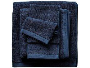 Luxusní froté ručník, koupací ručník, bavlna, modrá barva, 30x50