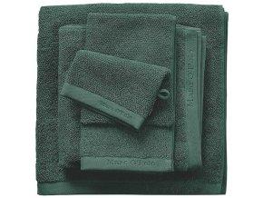 Luxusní froté ručník, koupací ručník, bavlna, zelená barva, 30 x 50 cm
