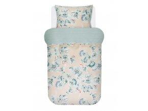 Bavlněné povlečení na postel, povlečení na jednolůžko  KERAVA, obrázkové povlečení, 100 % bavlna - Marco O'Polo - 140x220+60x70