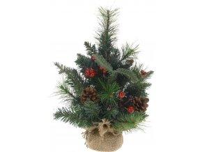 Dekorační vánoční stromek – umělý vánoční stromek, výš. 30 cm