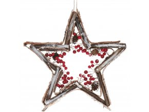 Vánoční věnec, závěsná dekorace  hvězda