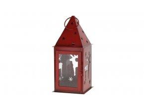 Emako Kovová lucerna (cm)\11x25 červená