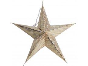 Dekorativní papírová hvězda 18 cm, 5 ks