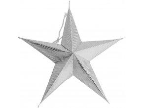 Dekorativní papírová hvězda 18 cm, 5 ks různé vzory