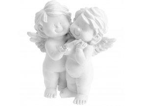 Emako Dekorativní figurka, vánoční ozdoba  Dva andílci, výš. (cm)/15