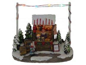 Vánoční dekorace, vánoční scenérie s osvětlením