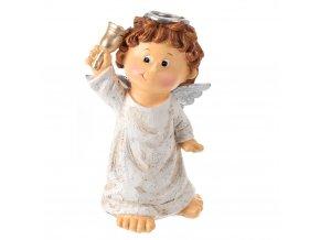 Emako Dekorativní figurka anděl se zvonečkem, výš. (cm)\16