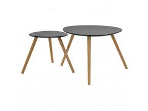 Kulatý kávový stolek natřech nohách, stolek nakávu, stolek do obývacího pokoje, černý stolek, dřevěný stolek