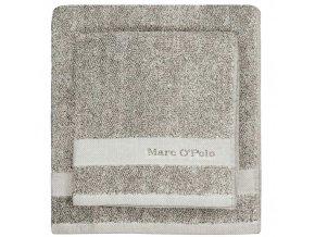 Luxusní froté ručník MELANGE koupací ručník, koupelny, 100% Bavlna - béžová, šedá, černá barva, Marco O'Polo -  70x140