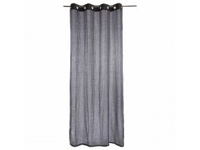 Závěs s kroužky, krásná šedá záclona s originální texturou napodobující záhyby