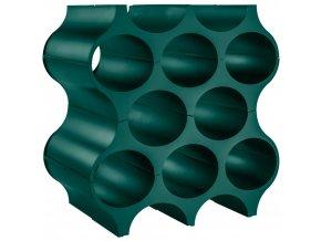 Stojan na láhve SET-UP - barva tmavě zelená, KOZIOL