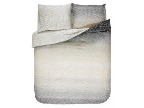 Bavlněná sada povlečení na dvojlůžko,  saténové povlečení, 100% bavlněné plátno - šedo-béžová barva, barevné povleceni, Esprit, 200 x 220 cm -  200x220+2/60x70