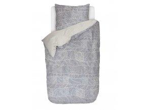 Bavlněné povlečení na postel pro jednu osobu, postel ze saténové bavlny, povlečení, modrá barva, obrázkové povlečení, sada povlečení, 100% bavlna, Esprit, 140 x 220 cm - 140x220+60x70