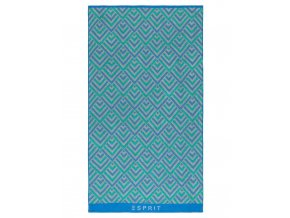 Bavlněný elegantní ručník v geometrickém vzoru