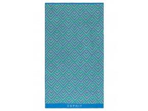 Esprit Bavlněný ručník, elegantní ručník, plážový ručník, ručník v geometrickém vzoru, velký ručník, luxusní ručník,