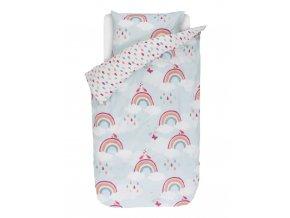 Barevné bavlněné povlečení na postel pro děti s motivem duhy, dětské povlečení, obrázkové povlečení, povlečení ESPRIT 140 x 220 cm - 140x220+60x70