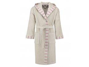 Pánský nebo dámský župan s kapsami a s kapucí, kabát po koupeli, 100% bavlněné froté - béžová barva, Esprit - L