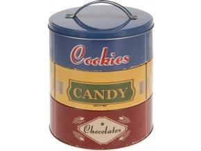 Plechovka na sušenky, bonbony  3 úrovně Emako