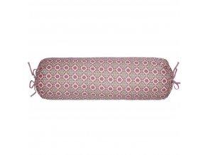 PiP Studio  ekskluzywne pościele Polštář ve tvaru válečku, podlouhlý polštář pod hlavu, 100% bavlněné plátno  vzor s drobnými kvítky, růžová barva, v retro stylu, PiP Studio