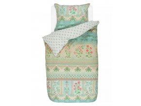 Bavlněné povlečení na postel pro jednu osobu, obrázkové povlečení, sada povlečení, 100% bavlněné plátno, povlečení na jednolůžko - téma příroda, PiP Studio - 140x220+60x70