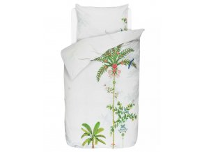 Bavlněné povlečení na postel pro jednu osobu, obrázkové povlečení, sada povlečení, 100% bavlněný plátno - palmový motiv, PIP Studio - 140x220+60x70