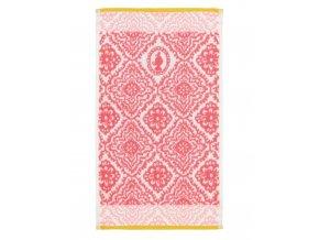 Ručník do koupelny, savý ručník, 100% bavlněné froté, s ornamentálním vzorem, tmavě růžová barva, PiP Studio - 30x50