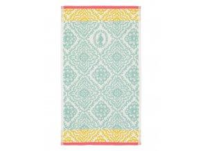 Světlemodrý ručník do koupelny, savý ručník, 100% bavlněné froté, s ornamentálním vzorem, PiP Studio -  70x140