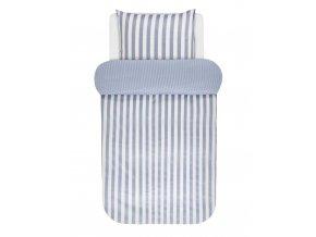 Bavlněné povlečení na postel, povlečení na jednolůžko, povlečení  v klasické modré pruhy, obrázkové povlečení, moderní povlečení Marc O'Polo - 140x220+60x70