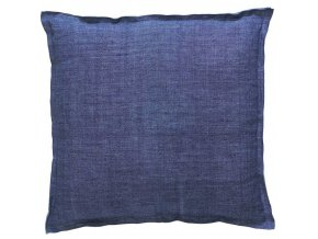Dekorační polštář, ozdobný potah na polštář  45 x 45 cm, modré barvy, moderní design, Marc O'Polo