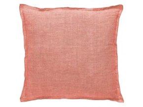 Dekorační polštář, ozdobný potah na polštář  45 x 45 cm, korálové barvy, moderní design, Marc O'Polo