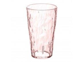 Sklenička CRYSTAL 2.0 L - barva růžová, 0,45 l, KOZIOL