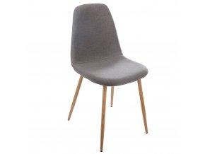 Tmavěšedá židle, elegantní a módní nábytek do jídelny nebo obývacího pokoje