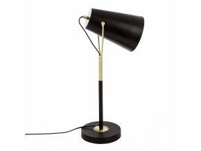 Stolní lampa v černé barvě, zdroj světla ideální na komodu nebo noční stolek