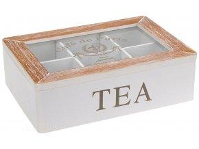 Dřevěný box na čaj CAFÉ DE PARIS, 6 přihrádek