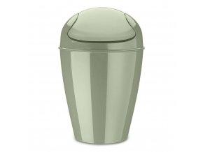 Odpadkový koš DEL M, 12 l- barva tmavě zelená, KOZIOL