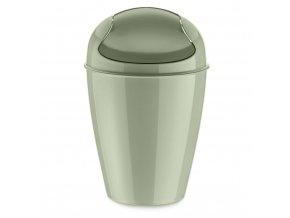 Odpadkový koš DEL S, 5 l - barva tmavě zelená, KOZIOL