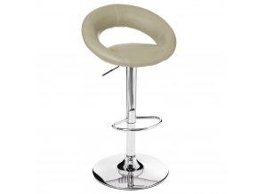 Barové křeslo zchromované oceli vbarvě taupe, taburet, křeslo do kuchyně, barová židle, kovové křeslo, stolička do kuchyně