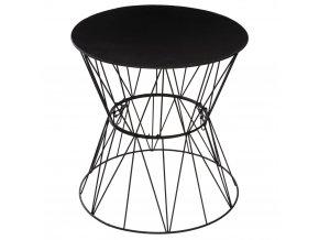 Kulatý kávový stolek nakovových nožkách, stolek nakávu, stolek doobývacího pokoje, stolek doobytné místnosti, bílý stolek, kovový stolek